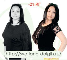 История похудения на 21 кг