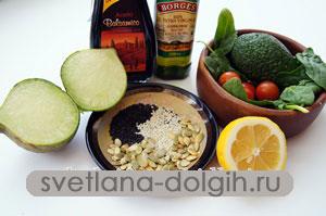 ингредиенты для диетического салата