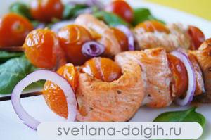 диетический шашлык из рыбы