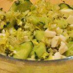 салат из капусты с куриным белком
