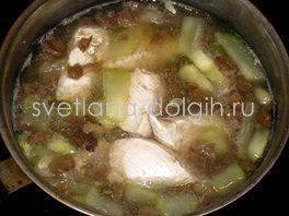 грибной суп с кабачком