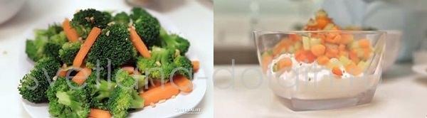 творог с овощами