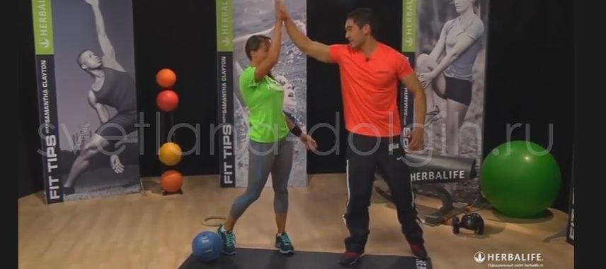 тренировка для похудения с партнером