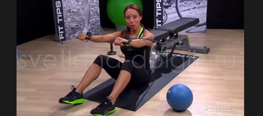 тренировка для мышц спины от Саманты Клейтон