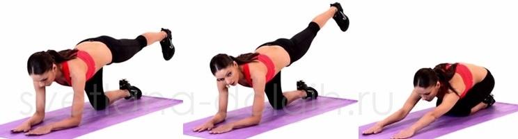 поднимание ног, упражнение для ягодиц