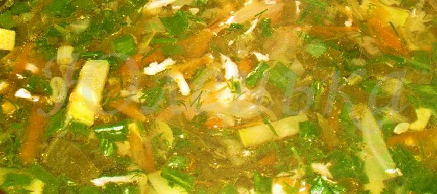 Диетический суп со щавелем