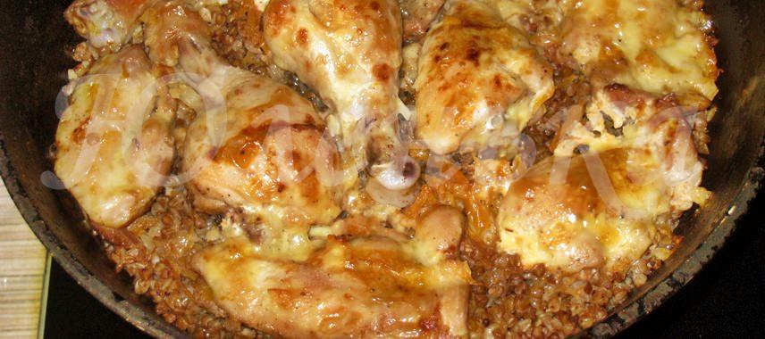 Аппетитная гречка с курицей в духовке от Юленьки