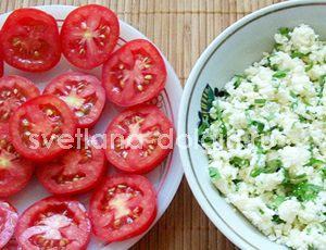 как приготовить помидоры с творогом