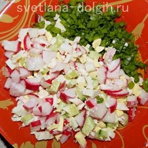Салат из огурца