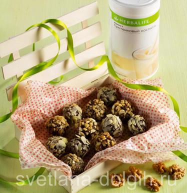 Шоколадные конфеты с орехами и Коктейлем Формулой 1