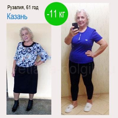 Результат похудения минус 11 кг