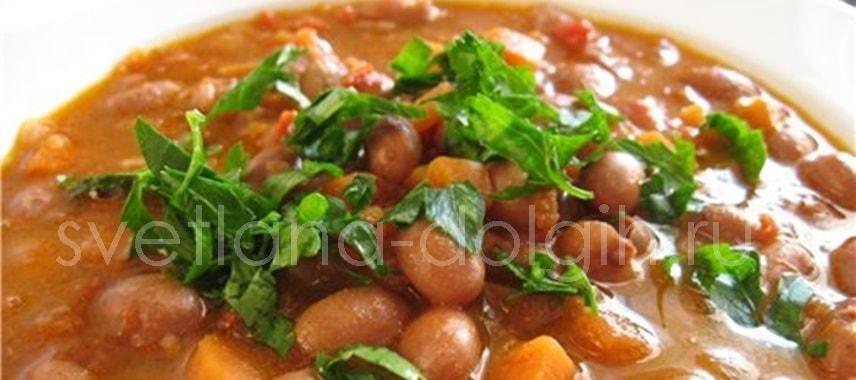 Суп фасолевый из консервированной фасоли