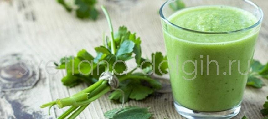 Вечерний коктейль Зеленый смузи