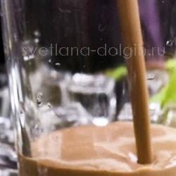 Кофейный смузи с овсянкой и бананом