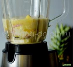 Как приготовить коктейль Гербал с ананасом и апельсиновым соком