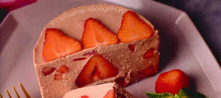 Десерт из клубники и творога