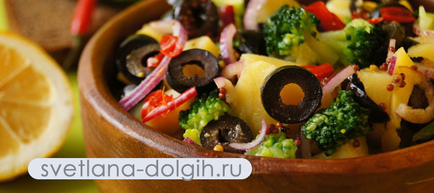 вкусный картофельный салат для тех, кто на Гербалайф
