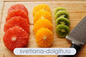 низкокалорийный десерт из цитрусовых