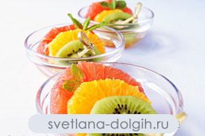 низкокалорийный фруктовый десерт