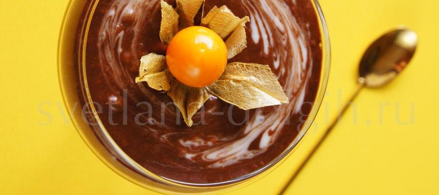 шоколадно-банановый десерт