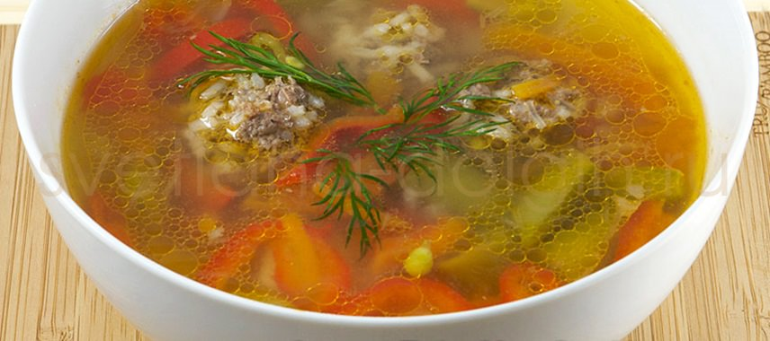 как приготовить диетический суп с фрикадельками