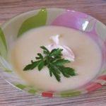 суп из цветной капусты и кабачка