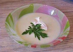 Суп-пюре из цветной капусты и кабачка