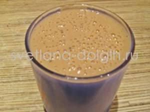 молочный коктейль с киви и бананом