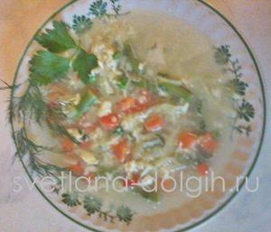 быстрый суп из замороженной смеси