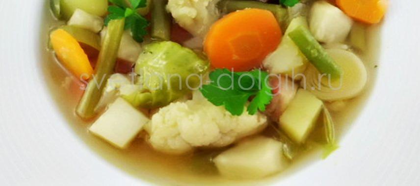 диетический суп из замороженных овощей
