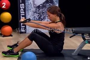 упражнение с эспандером для мышц спины