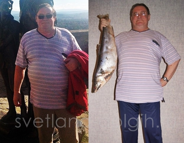мужчина похудел