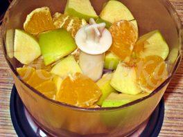 Лёгкий творожный десерт с фруктами