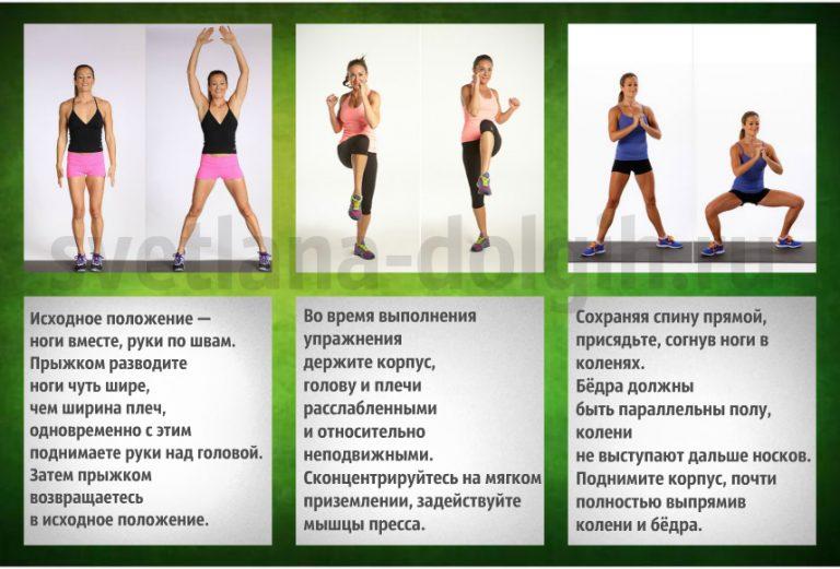 Упражнения для похудеть в домашних условиях видео